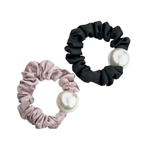 SATIN PEARL SCRUNCHIES - limlim official