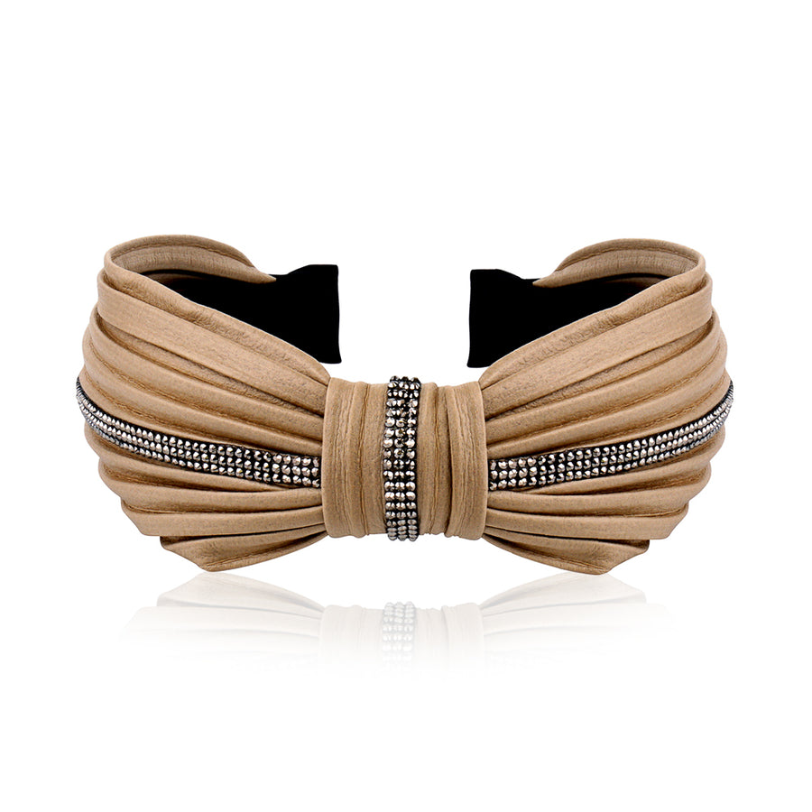 LEATHERETTE FLAT KNOT HAIRBAND - limlim official