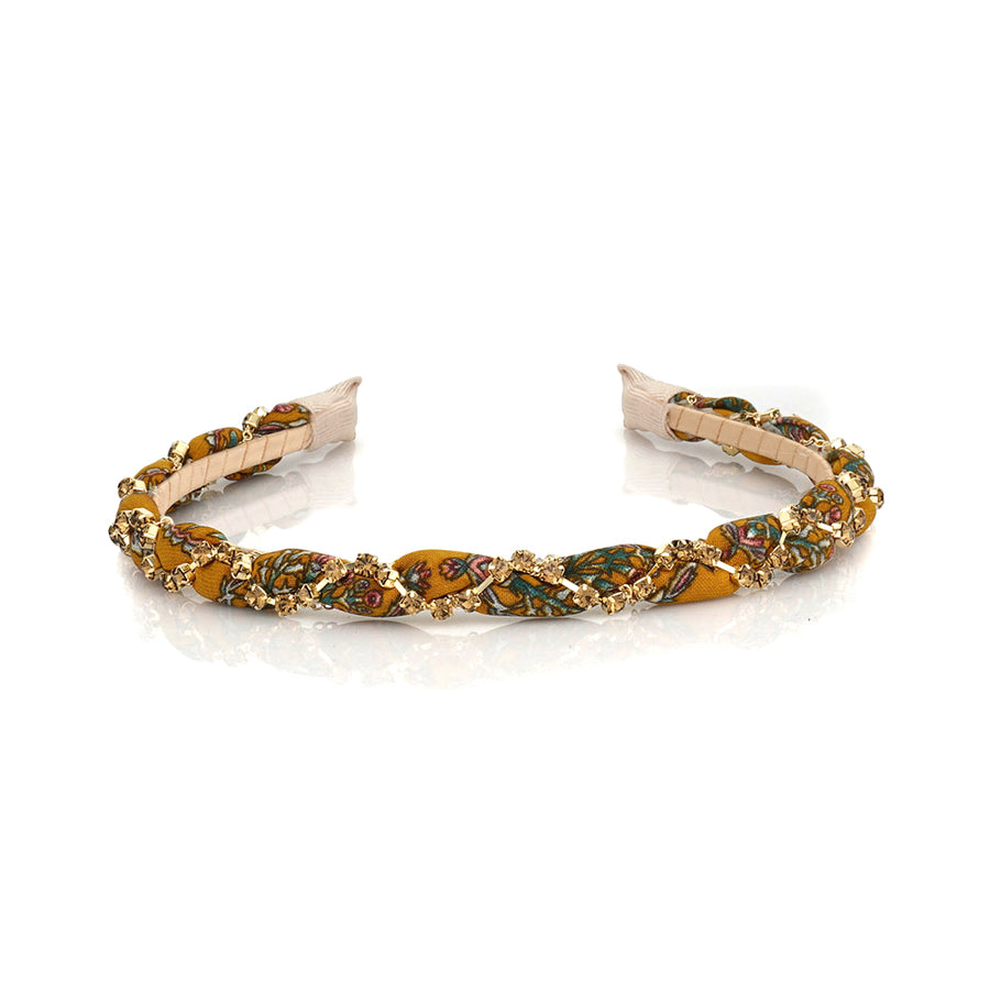 FLORAL TWISTED HAIBAND - limlim official
