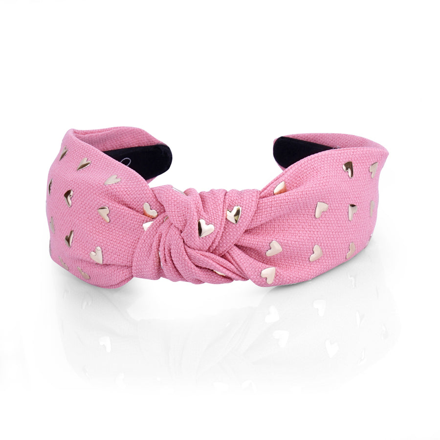 HEART TOP KNOT HAIRBAND - limlim official