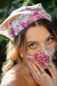Scarf and mask floral set - limlim official