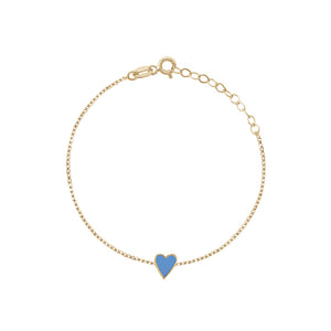 Enamel sterling heart turquoise - limlim official
