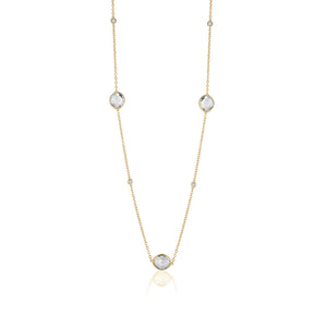 Long crystal necklace gold plated - limlim official