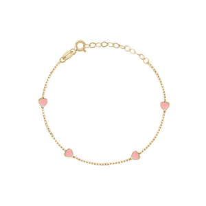 ALL HEART ENAMEL ANKLET