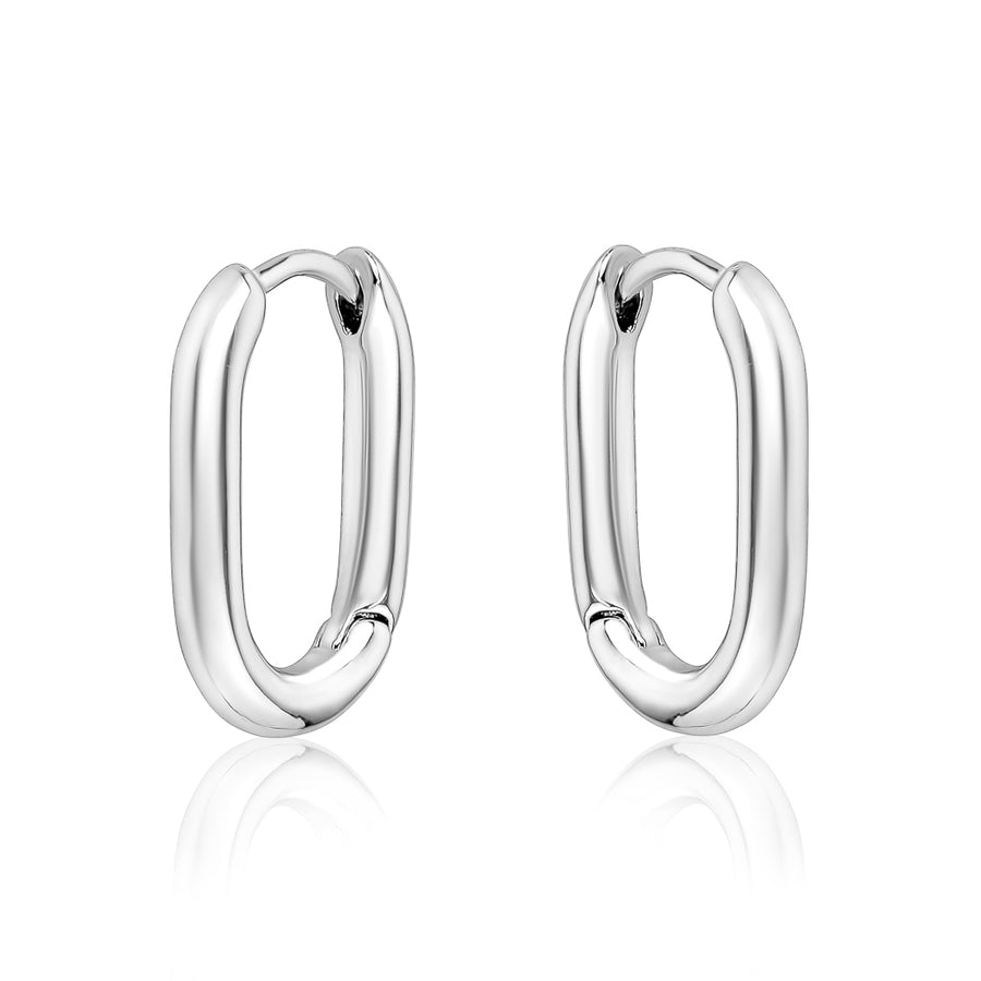 Oval tube small hoops - limlim official