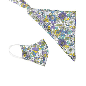 Scarf and mask floral purple - limlim official