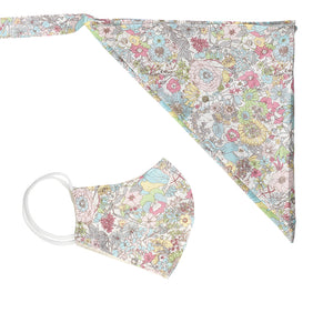 Scarf and mask floral set fresh flower - limlim official