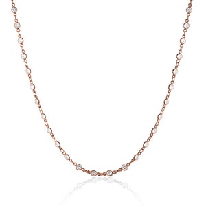 CRYSTAL DIAMOND NECKLACE - limlim-official