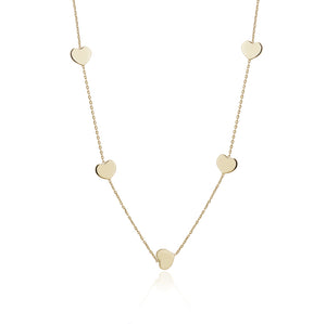 FIVE  HEART NECKLACE - limlim-official