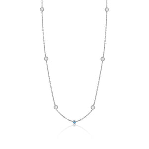 SMALL EVIL EYE AND CRYSTAL NECKLACE - limlim-official