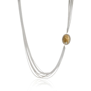 MULTI LAYER GENUINE STONE NECKLACE - limlim-official