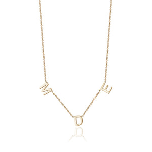 Multiple initial necklace - limlim official