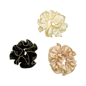 GOLD TRIM SCRUNCHIES - limlim official