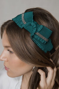 SIDE RIPPLED BOW HAIRBAND