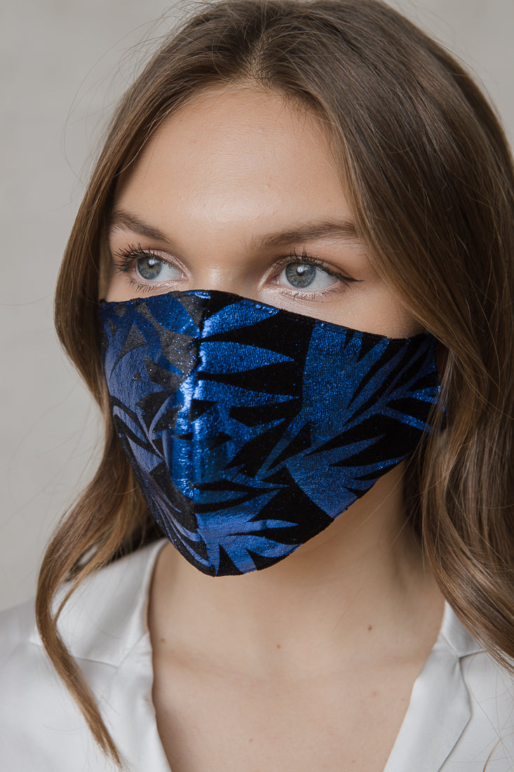 VELVET PAINTED MASK BLUE