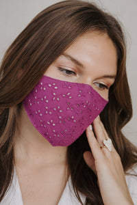 NEW EYELET MASK FUSCIA