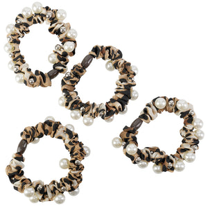 LEOPARD SATIN SCRUNCHIES