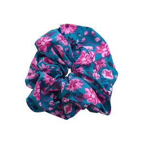 Satin extra large floral scrunchie - limlim official