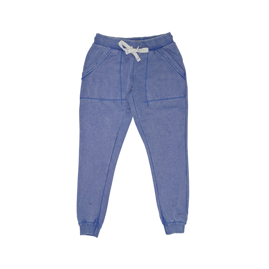 Soft cotton joggers denim color - limlim official