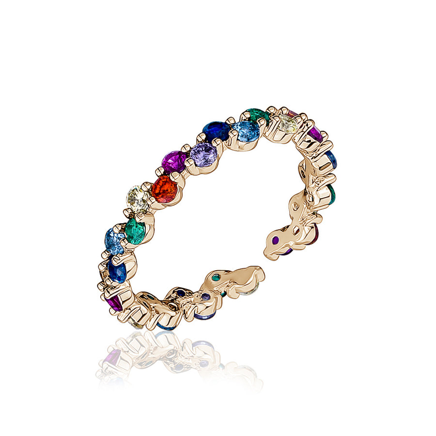 Thin rainbow crystal rings - limlim official
