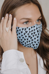 Neoprene heart mask baby blue