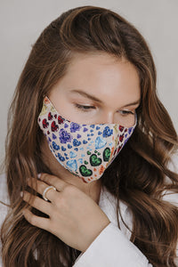 JEWELED MASK PATTERN CREAM
