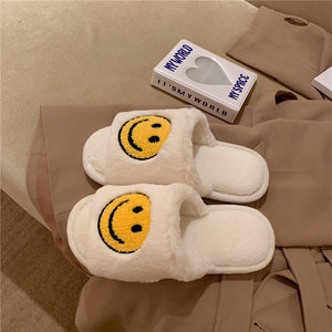 OPEN TOE SMILEY SLIPPERS