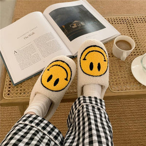 CLOSE TOE SMILEY SLIPPERS