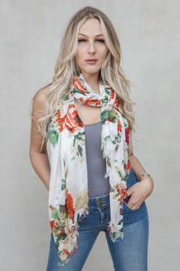 MODAL FLORAL IVORY
