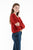 FIONA pull col bateau oversize rouge