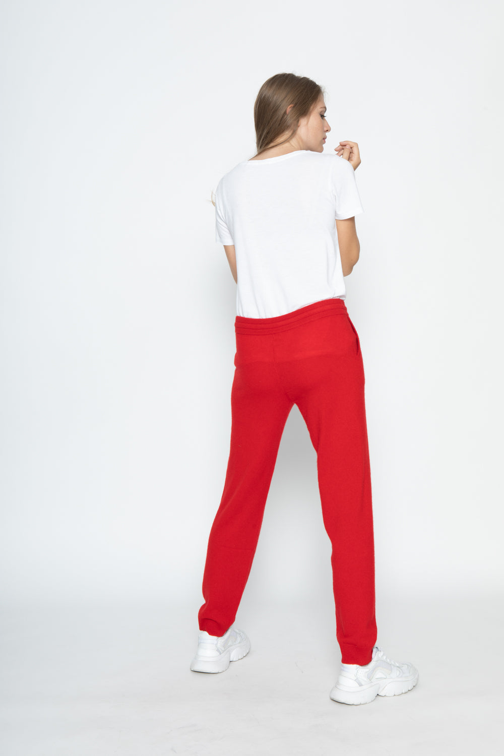 Pantalons Wendy Rouge, 100% Cachemire