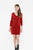 TRACY robe col v rouge 100% cachemire