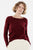 JANE pull col rond bordeaux