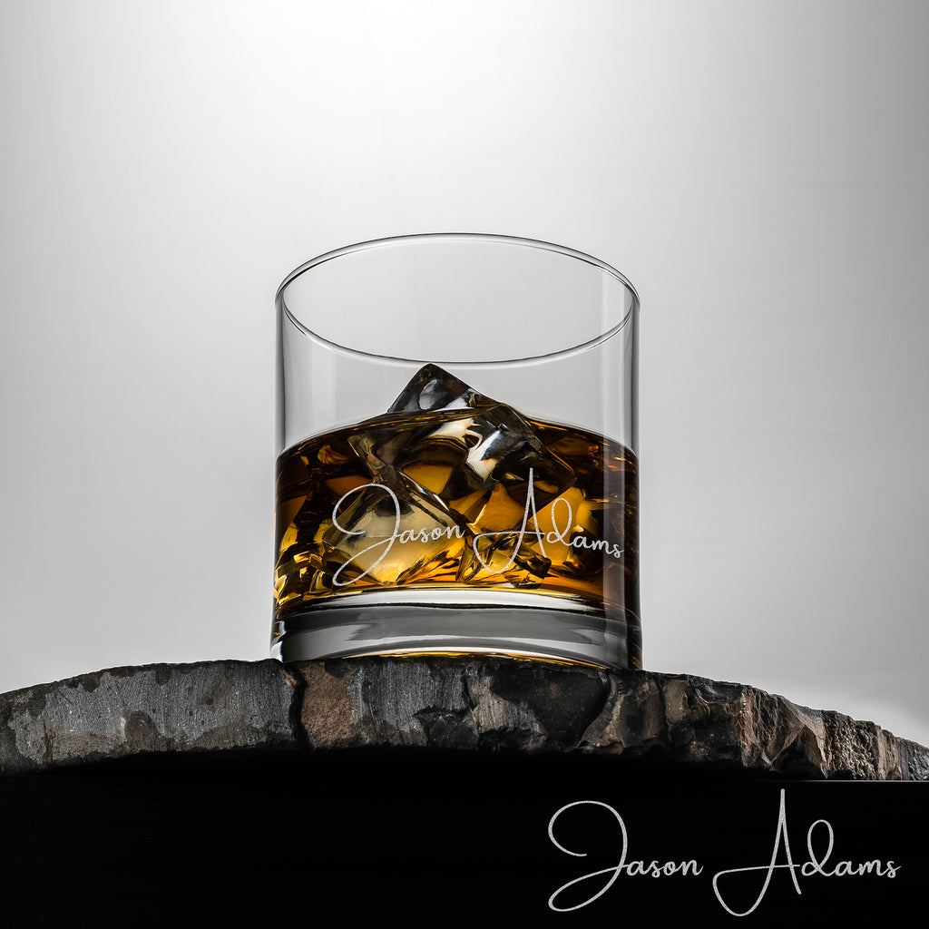 Whiskey Glass with complimentary set of 3 Whiskey Stones.