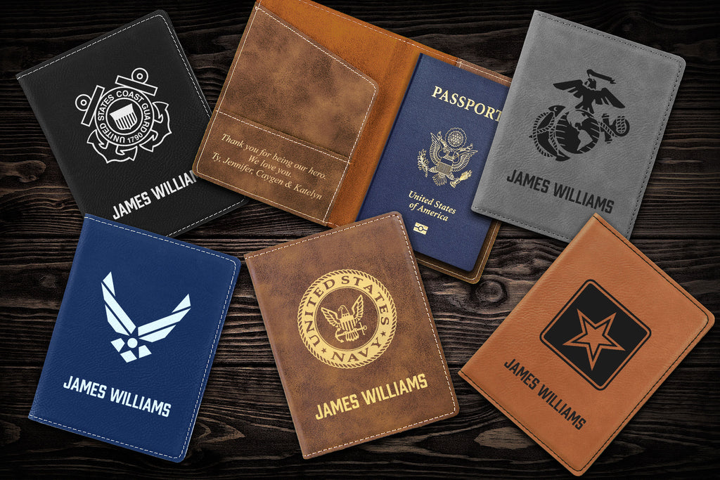 Passport cover - military gifts for men and women.