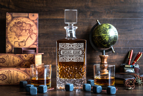 Whiskey Decanter - BIG and Heavy