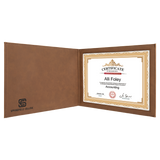 "Dark Brown Leatherette Holder or 8 1/2"" x 11"" Certificate"
