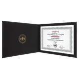 "Black & Gold Leatherette Holder or 8 1/2"" x 11"" Certificate"