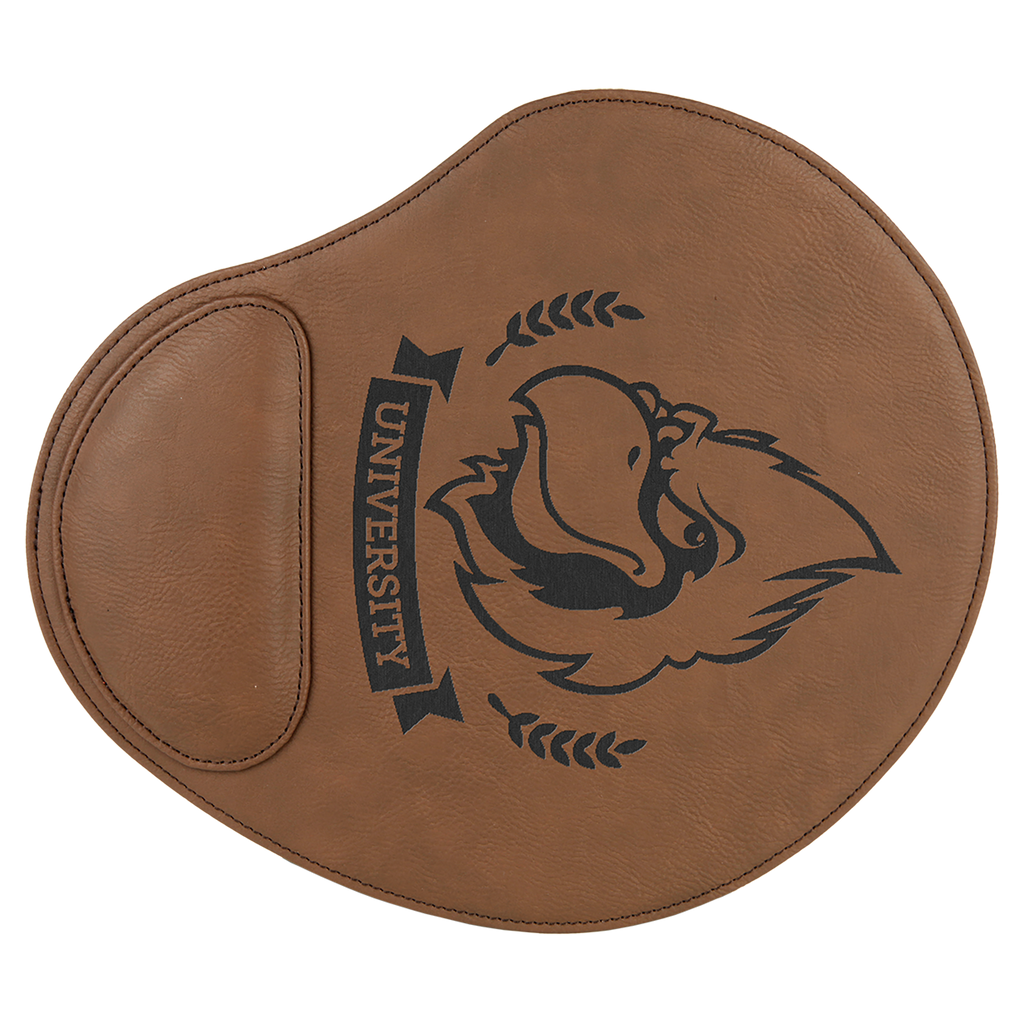Dark Brown Leatherette Mouse Pad