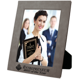 "8"" x 10"" Gray Leatherette Photo Frame"