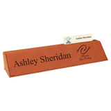 Rawhide Leatherette Desk Wedge with Business Card Holder