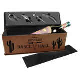 Dark Brown Leatherette Single Wine Box with Tools