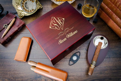 Cigar Humidor with Matching Accessories