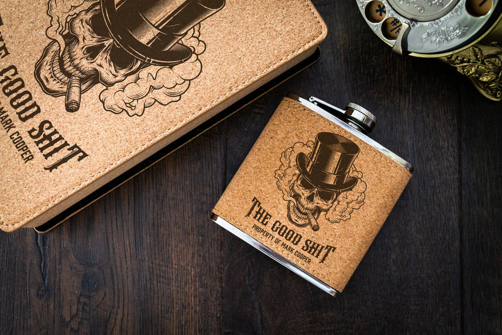 The Good Sh*t Engraved Flask