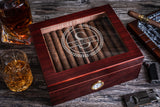 Personalized Glass Top Humidor Box