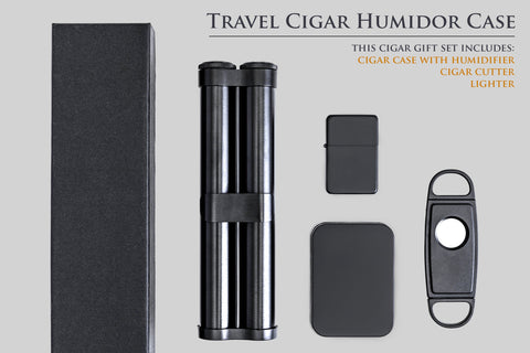 Travel Cigar Case with Accessories