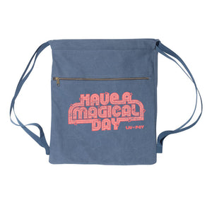 Drawstring Bag - Blue Roller Skate