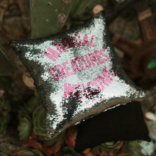 Load image into Gallery viewer, Sequin PIllow - Silver Magical Creatures