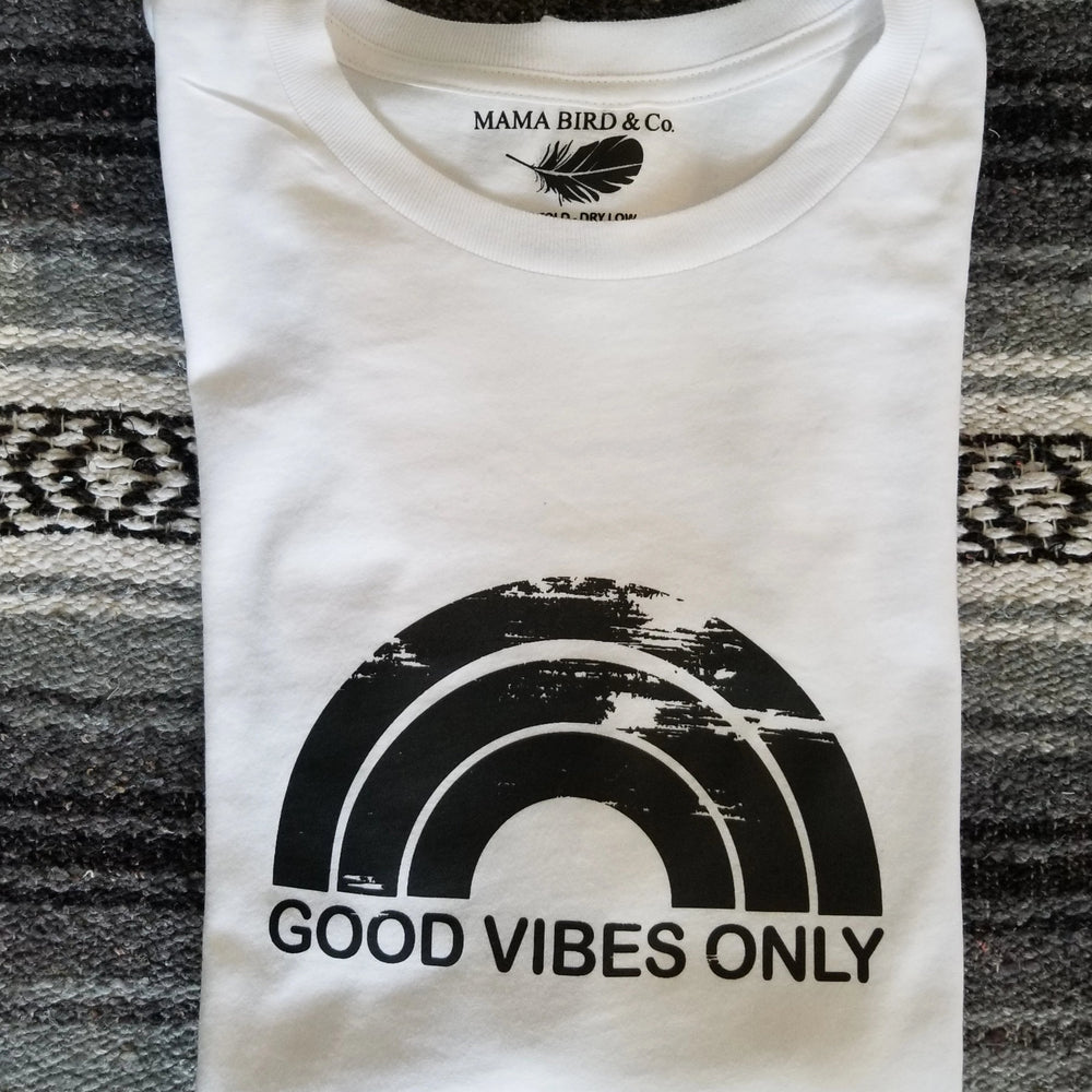 Good Vibes Only Rainbow - Off the Shoulder
