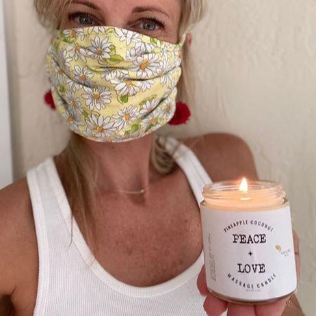 Peace + Love - Massage Candles